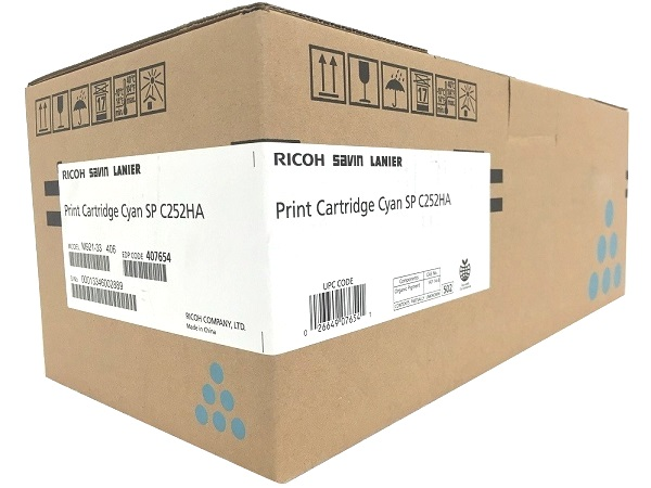 Ricoh 407654 Cyan All-in-One Print Cartridge