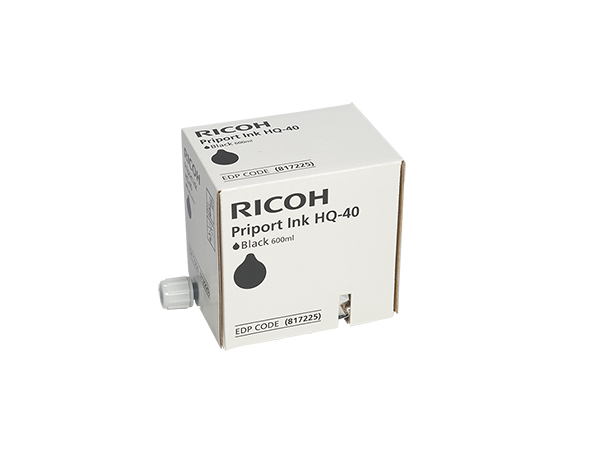Ricoh 817225 (893188) Black Ink, Box of 5
