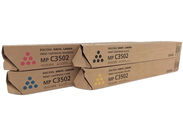 Ricoh MP C3502 Complete Toner Cartridge Set
