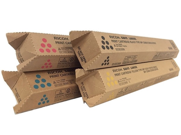 Ricoh Aficio MP-C5000 Complete Toner Cartridge Set