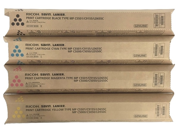 Ricoh MP-C5501 Complete Toner Cartridge Set