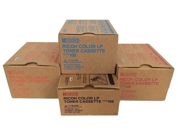 Ricoh Type 105 Complete Color Toner Cartridge Set