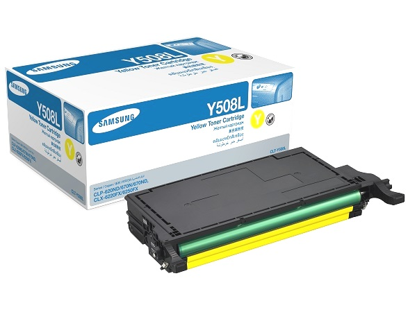 Samsung CLT-Y508L (CLT-Y508L/XAA) Yellow Toner Cartridge