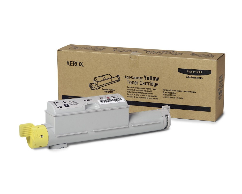 Xerox 106R01220 High Yield Yellow Toner Cartridge