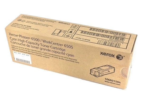 Xerox 106R01594 (Phaser 6500) Cyan High Capacity Toner Cartridge