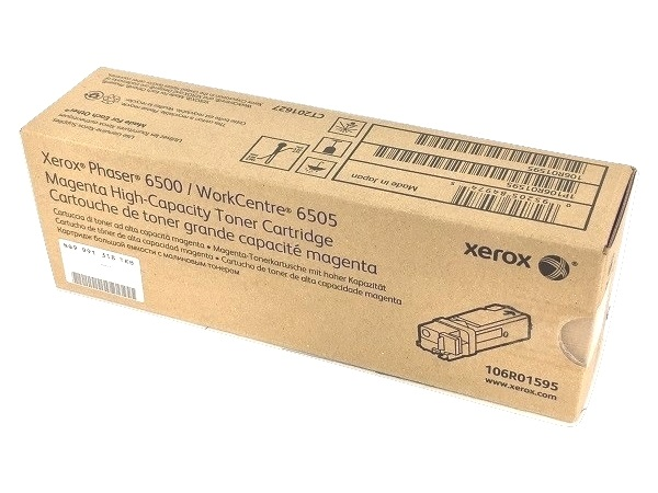 Xerox 106R01595 (Phaser 6500) Magenta High Capacity Toner Cartridge