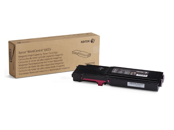Xerox 106R02745 (WC6655) Magenta High Capacity Toner Cartridge