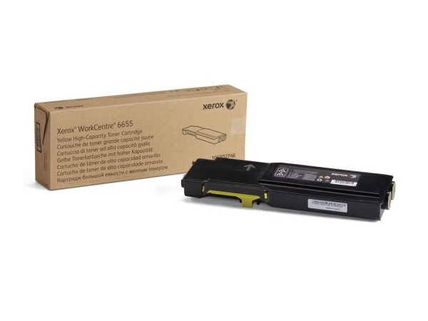 Xerox 106R02746 (WC6655) Yellow High Capacity Toner Cartridge
