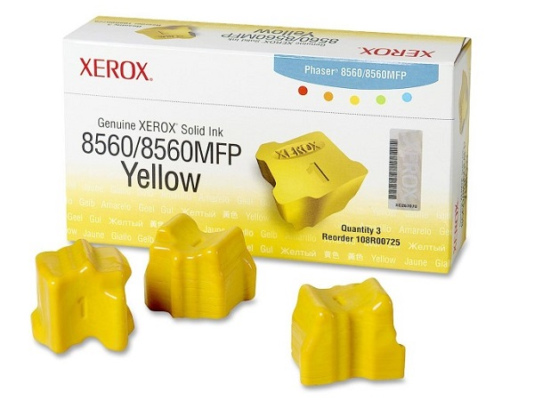 Xerox 108R00725 Phaser 8560 Yellow Solid Ink 3.4K Yield