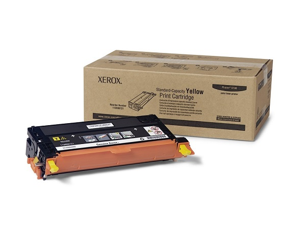 Xerox 113R00721 Phaser 6180 Yellow Toner Cartridge 2K Yield