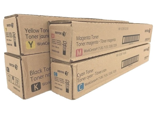 Xerox WorkCentre 7120 / 7125 / 7220 / 7225 Complete Toner Set