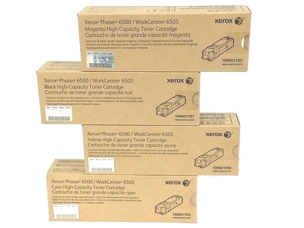 Xerox Phaser 6500 High Capacity Complete Toner Set